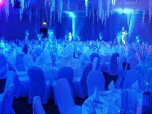 Hire blue lighting for weddings