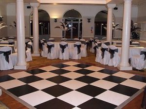 hire black and white chess floors in bedford